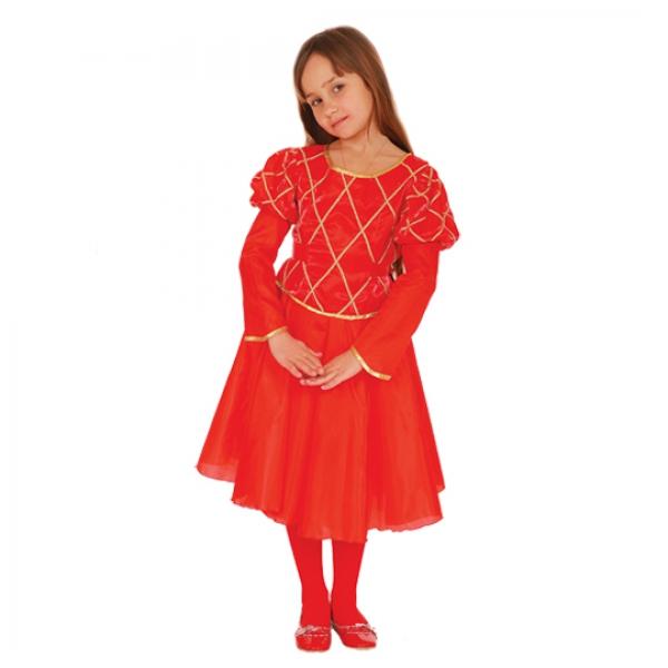 Маскарадный костюм Принцесса (красный цвет) арт. 102 009 122