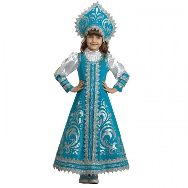 Карнавальный костюм Снегурочка Русская