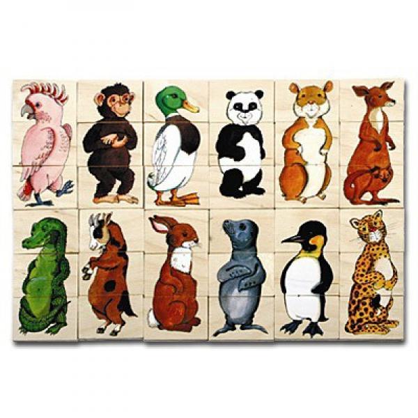 Детская развивающая игра  Пазлы «Зверята» арт. 16108