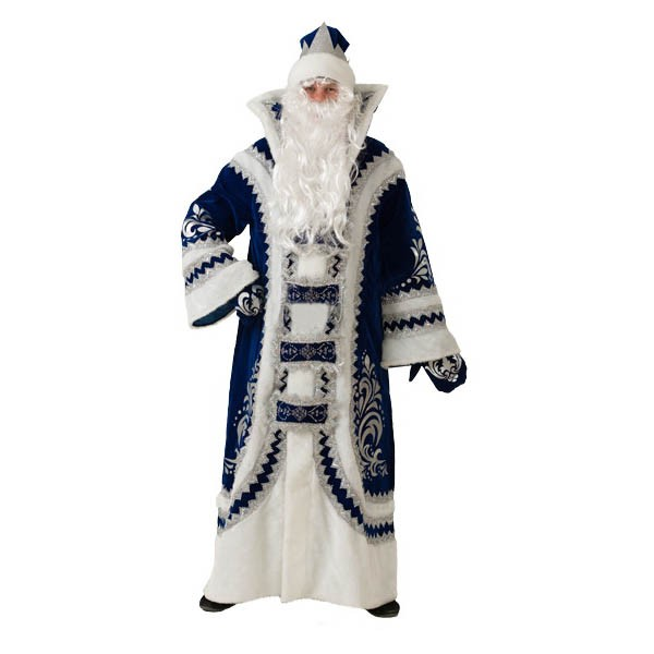 Костюм Дед Мороз Купеческий синий