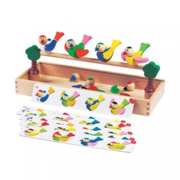 Детская развивающая игра с магнитами Птички