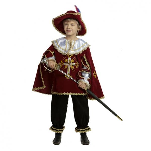 Карнавальный костюм Мушкетер бордо