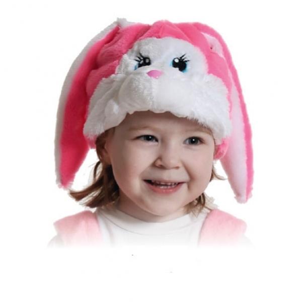 Шапочка Зайка розовая К4067