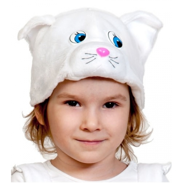Шапочка Кошечка Белая К4097