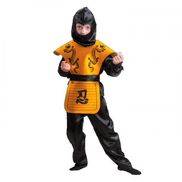 Карнавальный костюм Ниндзя желтый арт 7028-2