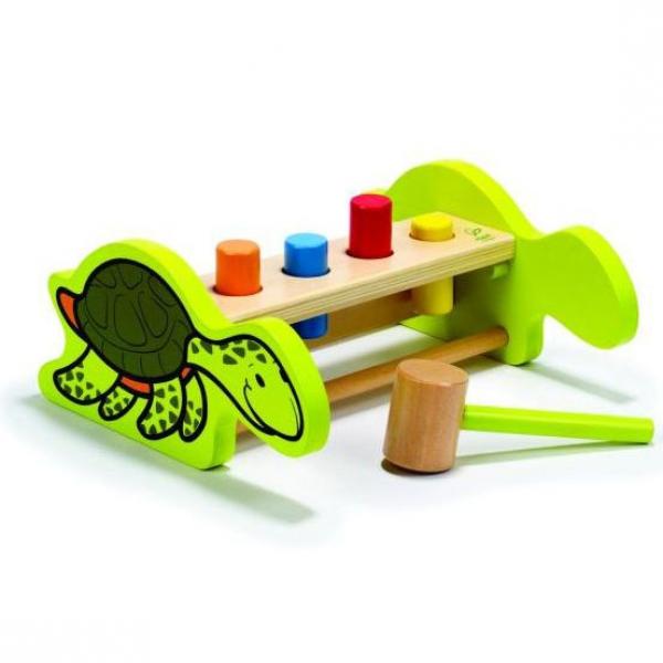 Детская развивающая игра забивалка с молоточком Черепашка