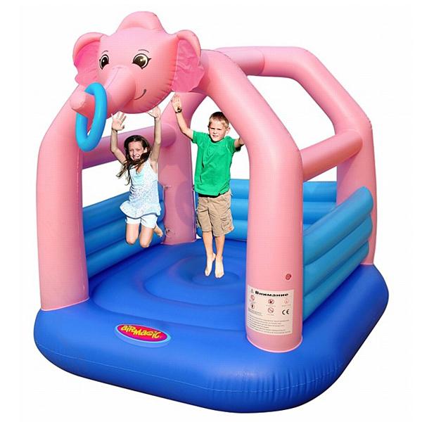 Надувной батут Розовый слон 8302