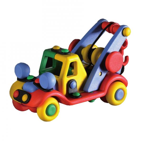 Детский игровой конструктор Машинка с подъемным краном