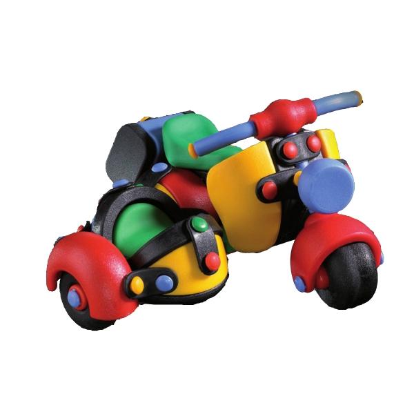 Детский игровой конструктор Мотоцикл с коляской