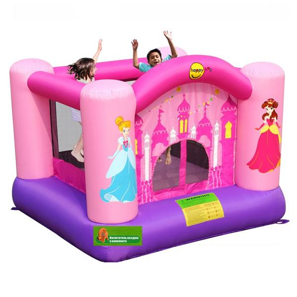 Батут Happy Hop для дома розовый
