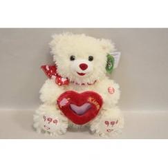 Мягкая игрушка Мишка белый с сердечком