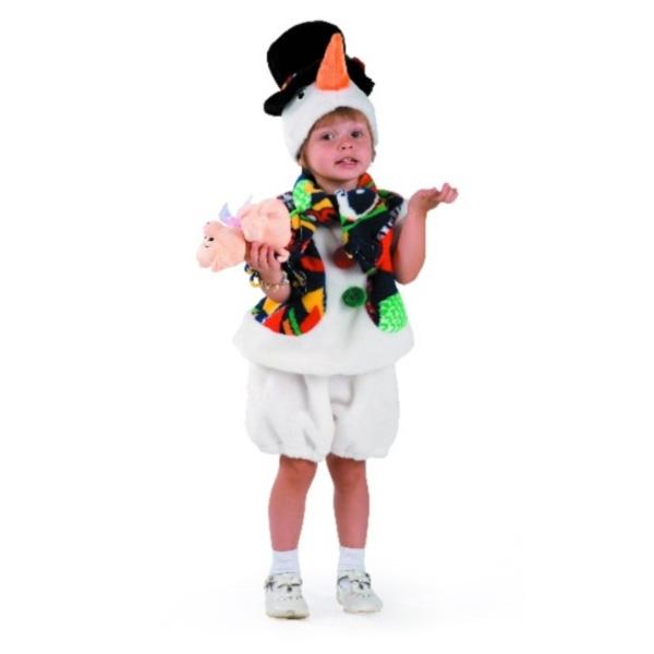 Карнавальный костюм Снеговик в шляпе