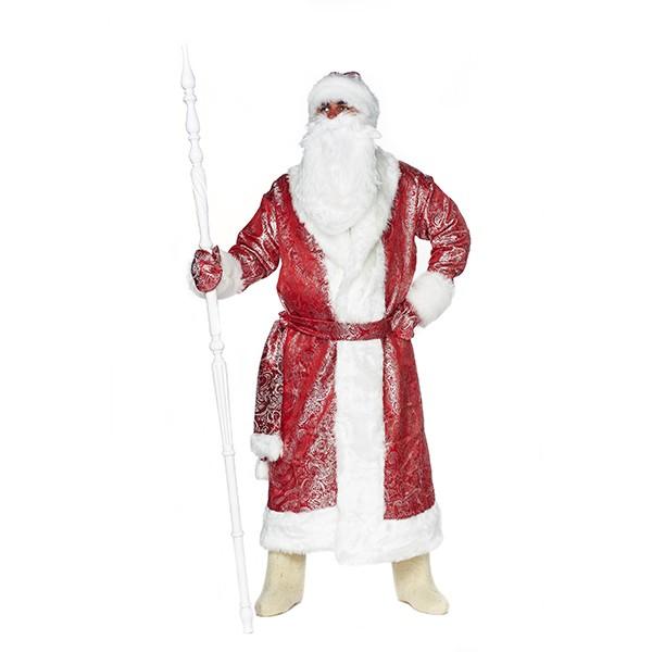 Карнавальный костюм Дед Мороз Сияние красный