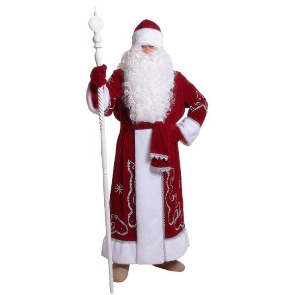 Костюм Дед Мороз (бархат с орнаментом)