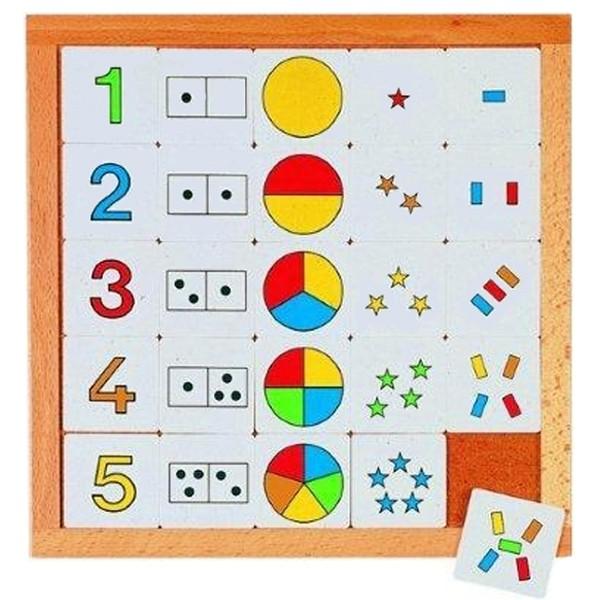 Детская развивающая игра Диаграммы с цифрами от 1 до 5 арт. 522176