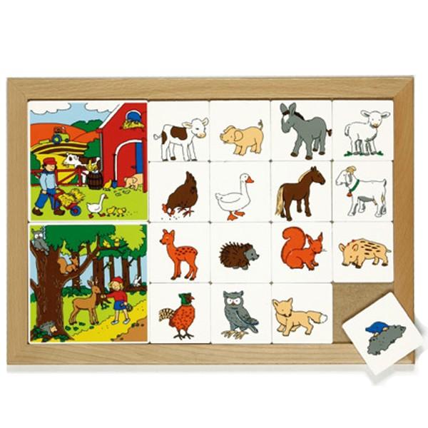 Детская развивающая игра «Лесные и домашние животные» арт. 522110
