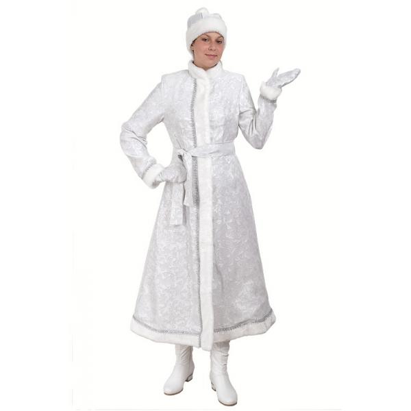 Снегурочка длинная приталенная сантун белый