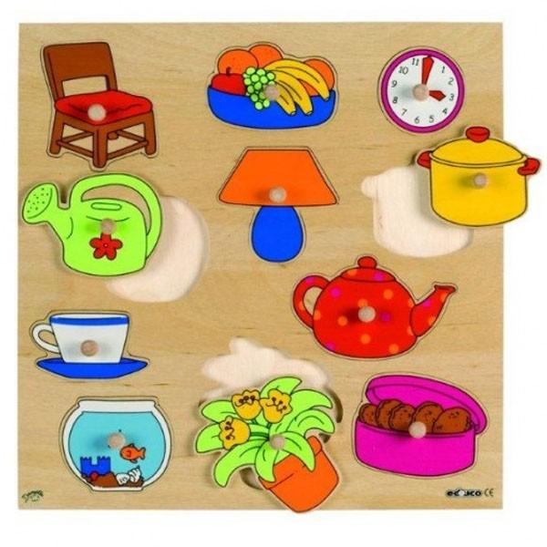 Детская развивающая игра  пазл-вкладыш «Дом и сад» арт. 522927