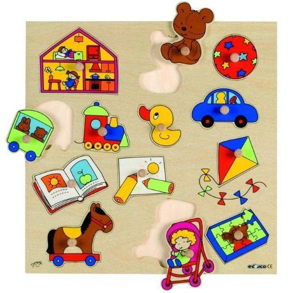 Детская развивающая игра  пазл-вкладыш «Игрушки» арт. 522925