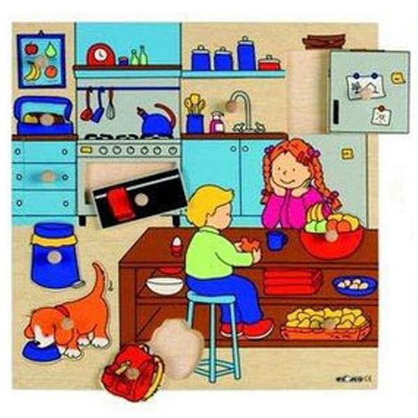 Детская развивающая игра  пазл-вкладыш «Кухня» арт. 522915