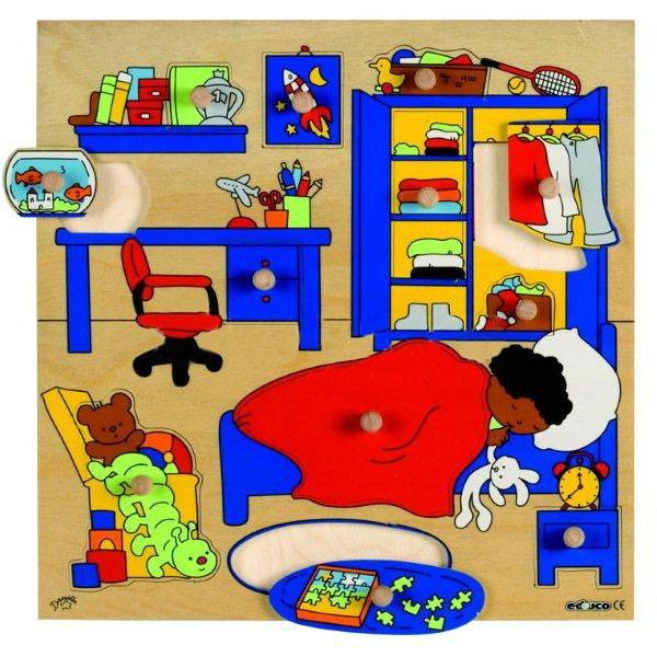 Детская развивающая игра  пазл-вкладыш «Спальня» арт. 522917
