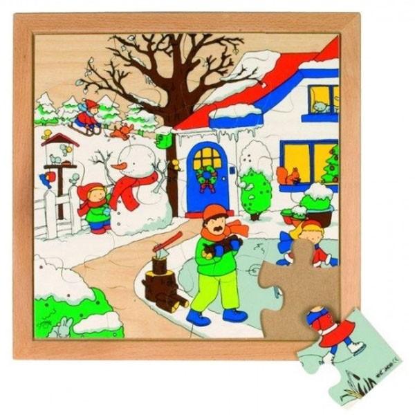 Детская развивающая игра  Пазл «Зима» арт. 522858