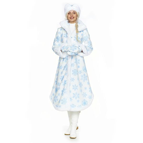Карнавальный костюм Снегурочка Боярская белая