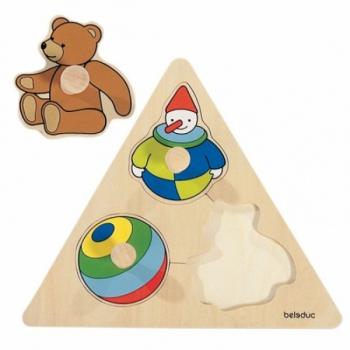 Детская развивающая игра Пазл-вкладыш «Игрушки» арт. 10121