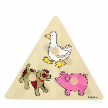 Детская развивающая игра Пазл-вкладыш «Животные» арт. 10123