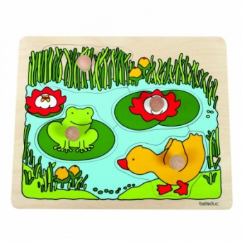 Детская развивающая игра Пазл-вкладыш «Пруд» арт. 10124