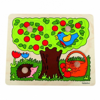 Детская развивающая игра Пазл-вкладыш «Дерево» арт. 10125