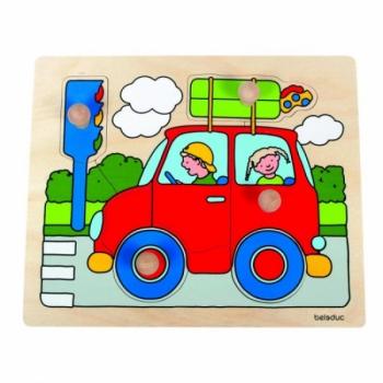 Детская развивающая игра Пазл-вкладыш «Машина» арт. 10126