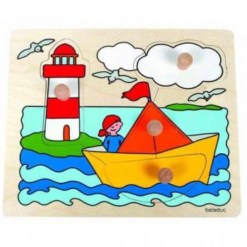 Детская развивающая игра Пазл-вкладыш «Парусная лодка» арт. 10127