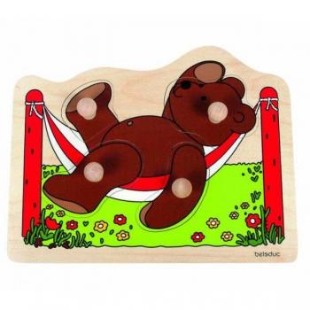 Детская развивающая игра Пазл-вкладыш «Медвежонок» арт. 10129