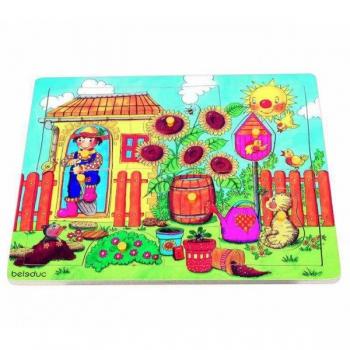 Детская развивающая игра Пазл-вкладыш «Огород» арт. 10130