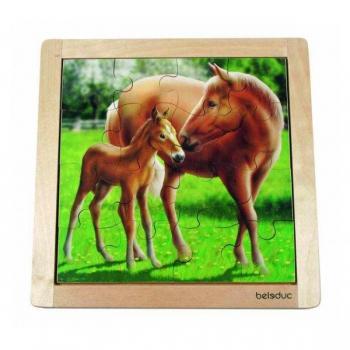 Детская развивающая игра Пазл в рамке «Лошадь» арт. 10136