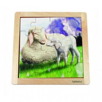 Детская развивающая игра Пазл в рамке «Овечка» арт. 10137