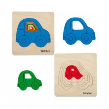Детская развивающая игра Многослойный пазл «Машинки» арт. 10142