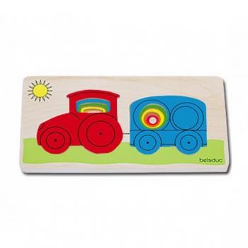 Детская развивающая игра Многослойный пазл «Трактор» арт. 10144