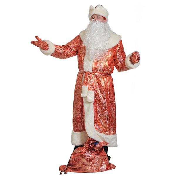 Костюм Дед Мороз парча-норка k1053