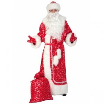 Дед Мороз плюш серебро