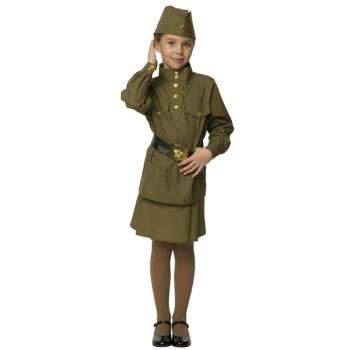 Костюм Гимнастерка с юбкой детская 108 003-1