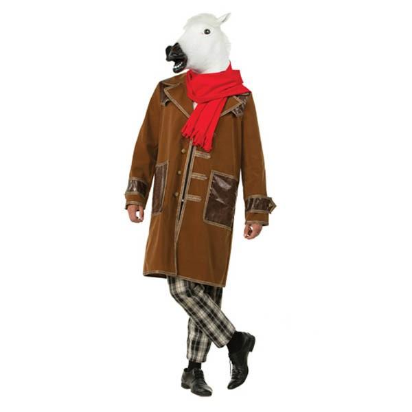 Костюм Конь в пальто белый