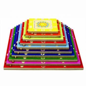 Детская развивающая игра Пазл в рамке «Пирамида» арт. 16124