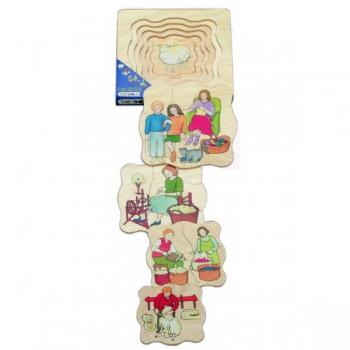 Детская развивающая игра Многослойный пазл «Как получают шерсть» арт. 17029