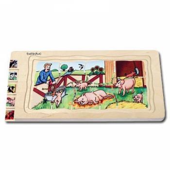 Детская развивающая игра Многослойный пазл «ферма» арт. 17041