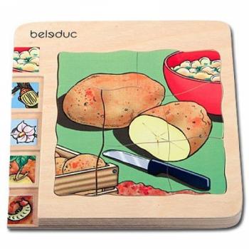 Детская развивающая игра Многослойный пазл «Как растет картошка» арт. 17043