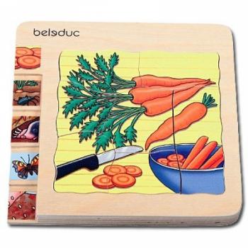 Детская развивающая игра Многослойный пазл «Как растет морковь» арт. 17044