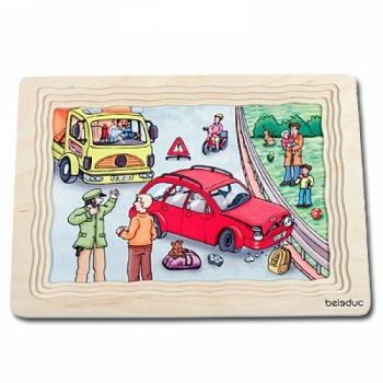 Детская развивающая игра Многослойный пазл «Гараж» арт. 17046