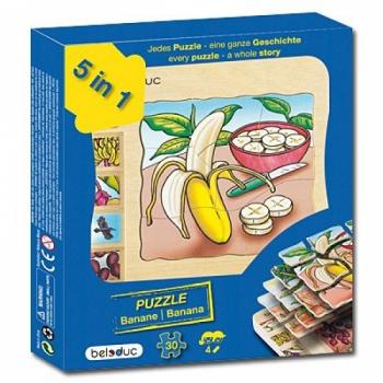 Детская развивающая игра Многослойный пазл «Как растут бананы» арт. 17049